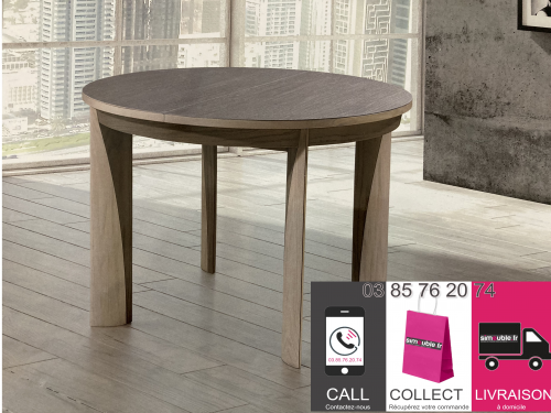 Table de repas ronde en chêne