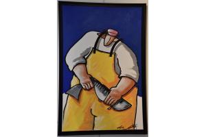 Marin pêcheur jaune