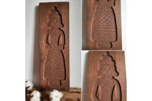 ancien moule à biscuit spéculoos en bois, grande taille