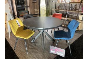 Table ronde plateau céramique diamètre 120 cm