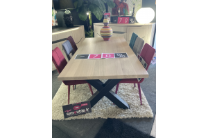 Table plateau placage chêne