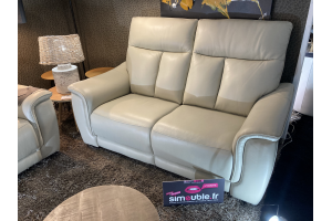 Canapé 2 places fixe en cuir